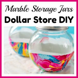 Marble Storage Jars Dollar Store DIY