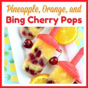 Pineapple, Orange, and Bing Cherry Pops