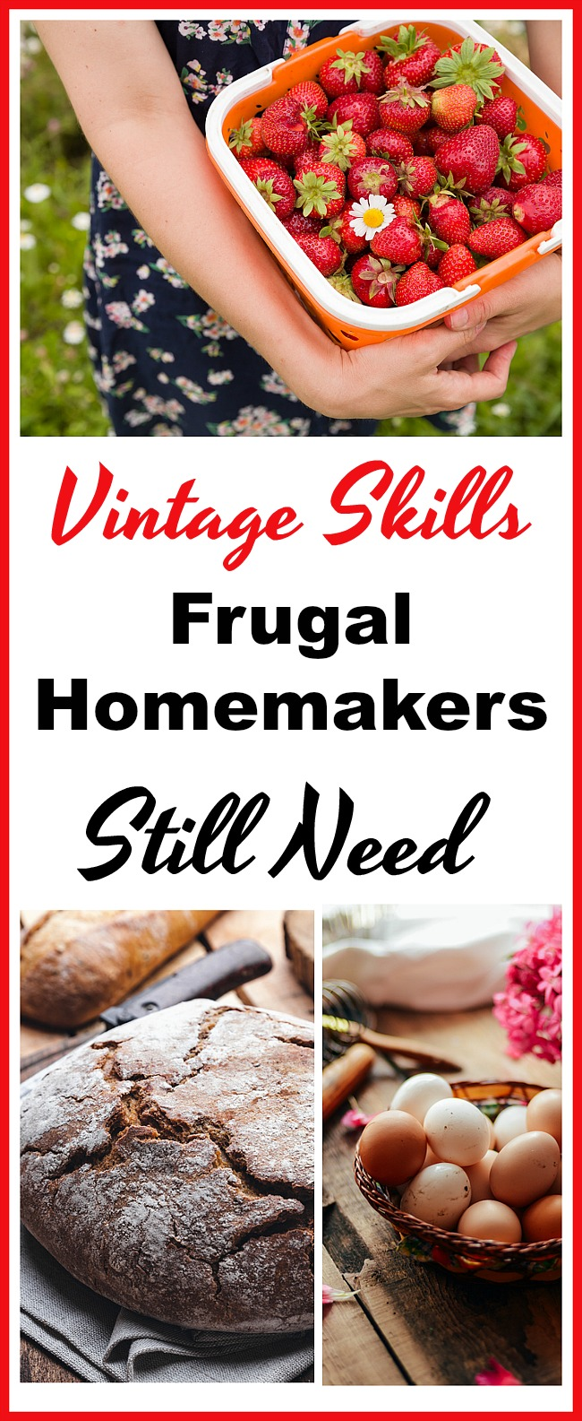 """Vintage Skills Frugal Homemakers Still Need - Once upon a time homemaking was all about """"Use it up, wear it out, make it do or do without."""" Despite technology and modern conveniences, there are still some vintage skills frugal homemakers need to have in order for them to navigate the art of frugal homemaking today. Frugal living, homemaker tips, old fashioned homemaking, homemaking 101, money saving tips, living on a budget, sahm, home management"""