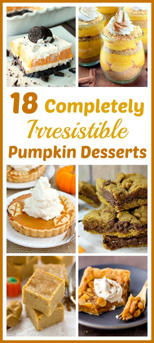 18 Completely Irresistible Pumpkin Desserts