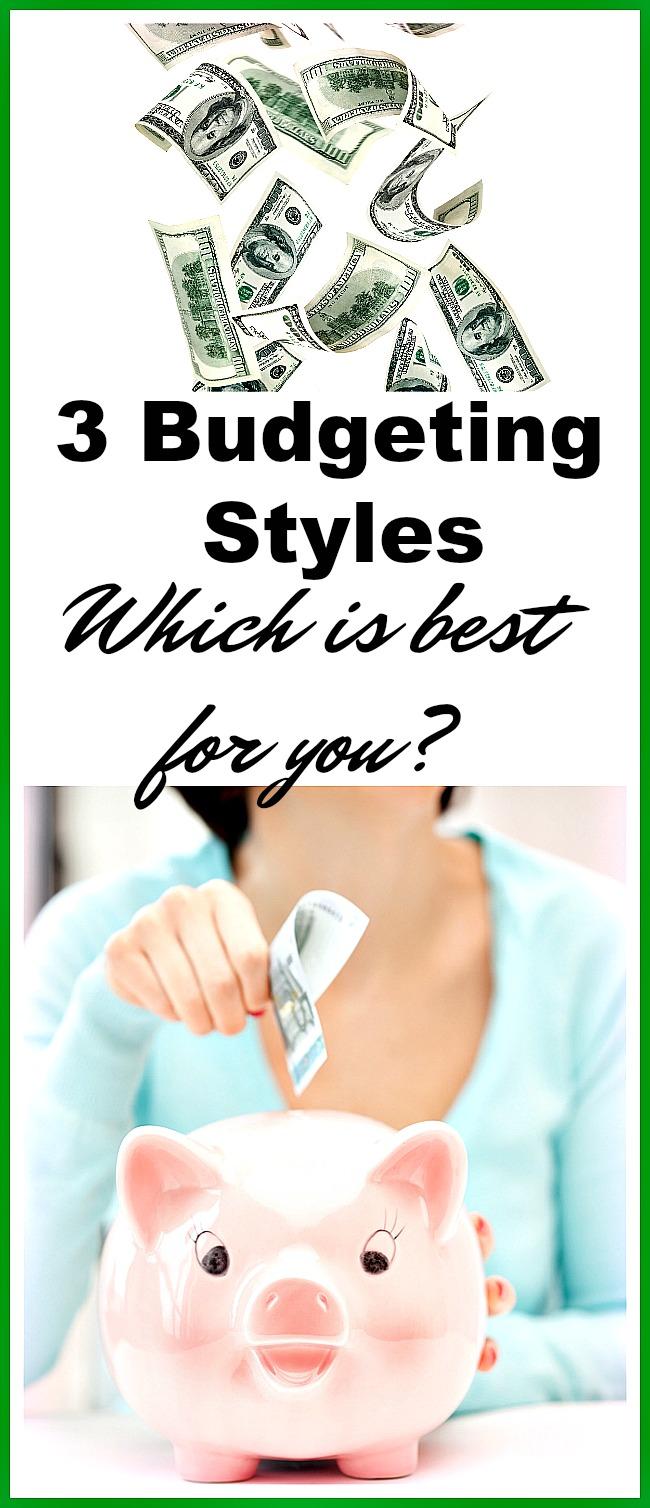 3 personal budgeting methods