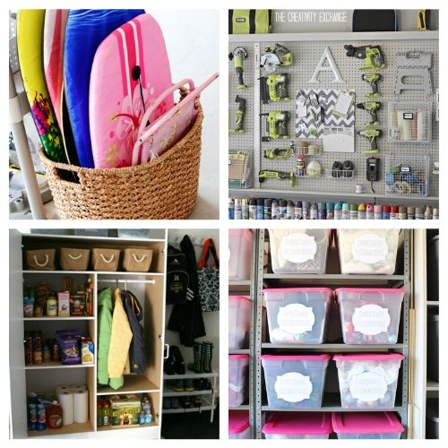 17 Brilliant Garage Organization Ideas - Get your garage in shape with these brilliant garage organization ideas. Organize your tools, seasonal decor & other items with these great ideas! | #ACultivatedNest