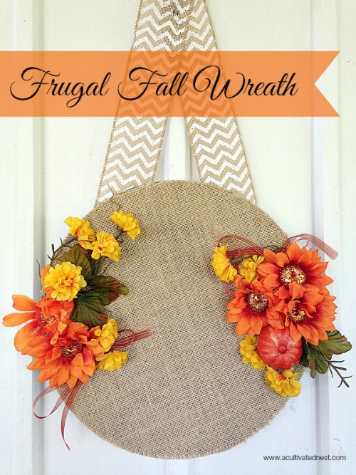 15 Fall DIYs from Dollar Store Materials- You can add a little autumn warmth to your home's decor on a budget with these DIY fall dollar store home decor projects! | Dollar store crafts, DIY home decor projects, fall crafts, fall home decorating projects, decorating on a budget #dollarStoreDIY #craft #diyProjects #fallDecorating #ACultivatedNest