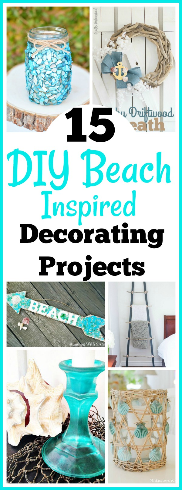 15 diy beach inspired home decor projects. Black Bedroom Furniture Sets. Home Design Ideas