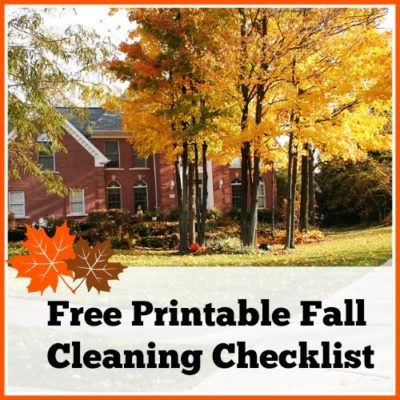 Fall Cleaning Checklist & Free Printable