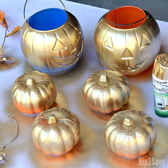 15 Fall Dollar Store DIY Decor Projects- You can add a little autumn warmth to your home's decor on a budget with these DIY fall dollar store home decor projects! | Dollar store crafts, DIY home decor projects, fall crafts, fall home decorating projects, decorating on a budget #dollarStoreDIY #craft #diyProjects #fallDecorating #ACultivatedNest