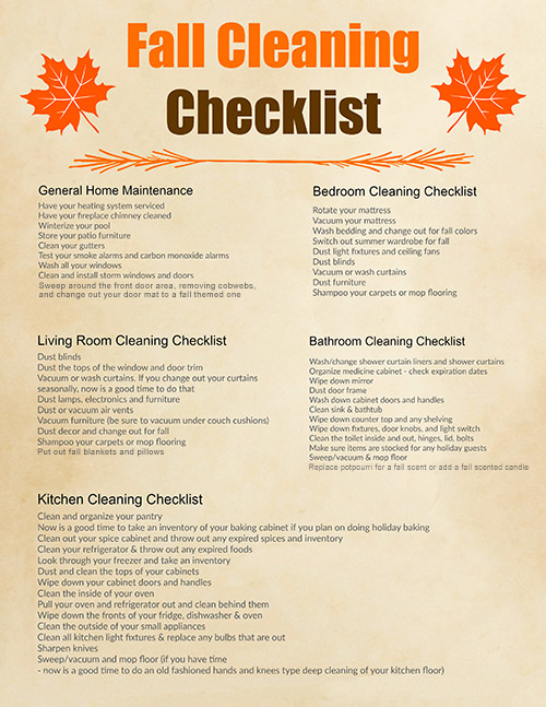 Free Printable Fall Cleaning Schedule- Spring cleaning gets a lot of attention, but if you want to get ready for the holidays you need this fall cleaning checklist free printable! | room by room autumn cleaning schedule, #cleaning #freePrintable #printable #fall #cleaningTips #homemaking #cleaningChecklist #cleaningSchedule #ACultivatedNest