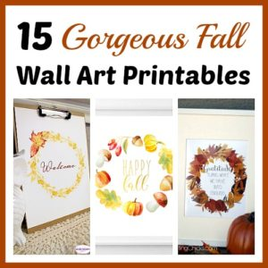 15 Gorgeous Fall Wall Art Printables