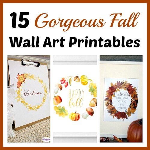 photo relating to Printable Fall Decorations known as 15 Beautiful Drop Wall Artwork Printables- No cost Autumn Artwork Prints