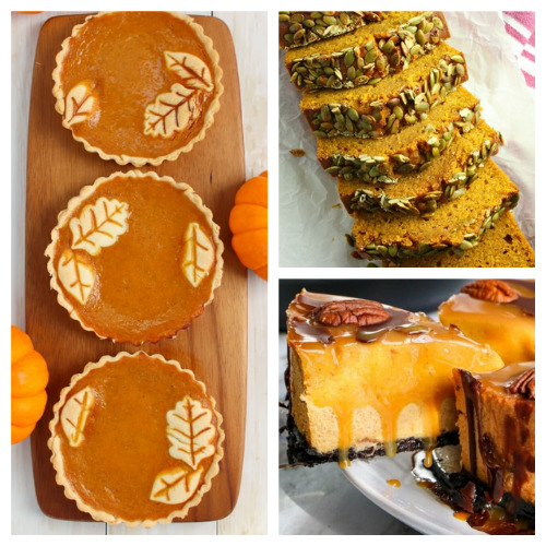 20 Completely Irresistible Pumpkin Desserts- One of the best ways to celebrate fall is with pumpkin! If you want some new and delicious pumpkin recipes to enjoy this autumn, you have to check out these completely irresistible pumpkin desserts! | baking, food, fall recipes, treat, fall desserts, pumpkin bread, pumpkin pie, #fallRecipes #pumpkinPie #pumpkinBread #dessertIdeas #ACultivatedNest