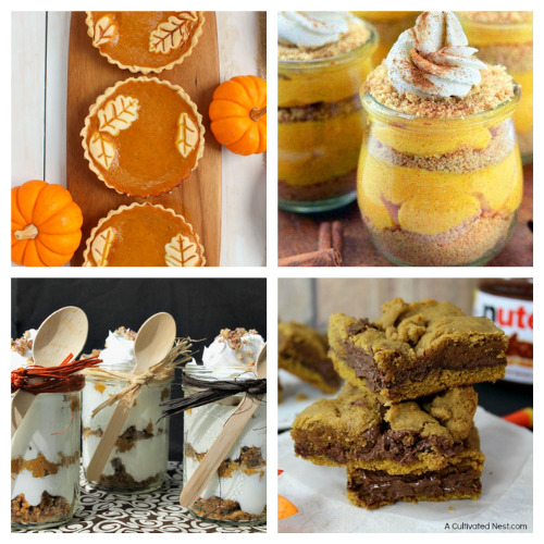 20 Completely Irresistible Pumpkin Desserts for Fall- One of the best ways to celebrate fall is with pumpkin! If you want some new and delicious pumpkin recipes to enjoy this autumn, you have to check out these completely irresistible pumpkin desserts! | baking, food, fall recipes, treat, fall desserts, pumpkin bread, pumpkin pie, #fallRecipes #pumpkinPie #pumpkinBread #dessertIdeas #ACultivatedNest