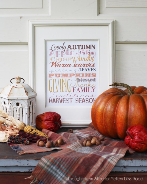 15 Gorgeous Fall Wall Art Printables - An easy and inexpensive way to decorate your home for fall is with free printables. Check out these 15 gorgeous fall wall art printables! #ACultivatedNest