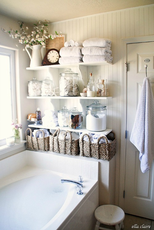10 Clever Bathroom Storage Solutions. What home couldn't use more storage in the bathroom! Check out these creative bathroom storage ideas! bathroom organization, bathroom storage, creative organizing ideas, small bathrooms, DIY home decor ideas
