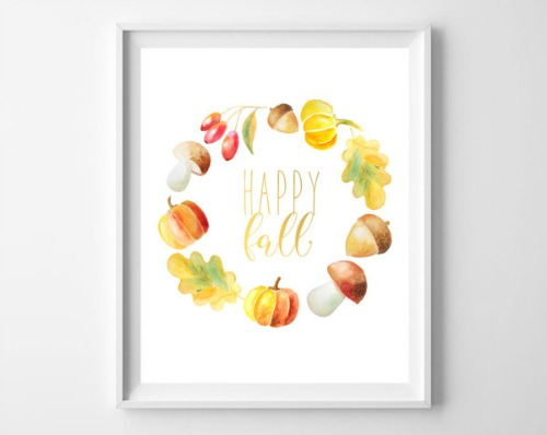 15 Gorgeous Fall Wall Art Free Printables- An easy and inexpensive way to decorate your home for fall is with free printables. Check out these 15 gorgeous fall wall art printables! | autumn, art print, leaf wreath printable, Thanksgiving printable, Halloween printable, #freePrintables