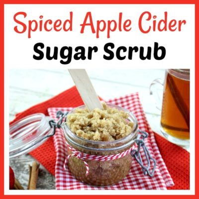 Spiced Apple Cider Sugar Scrub