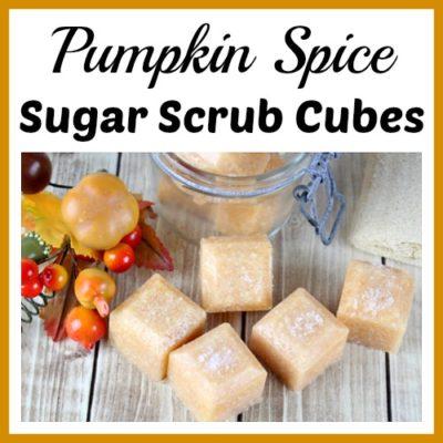 Exfoliating Pumpkin Spice Sugar Scrub Cubes
