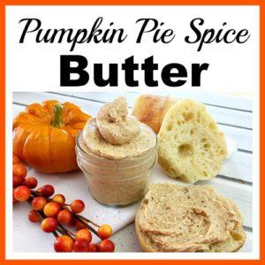 Homemade Pumpkin Pie Spice Butter