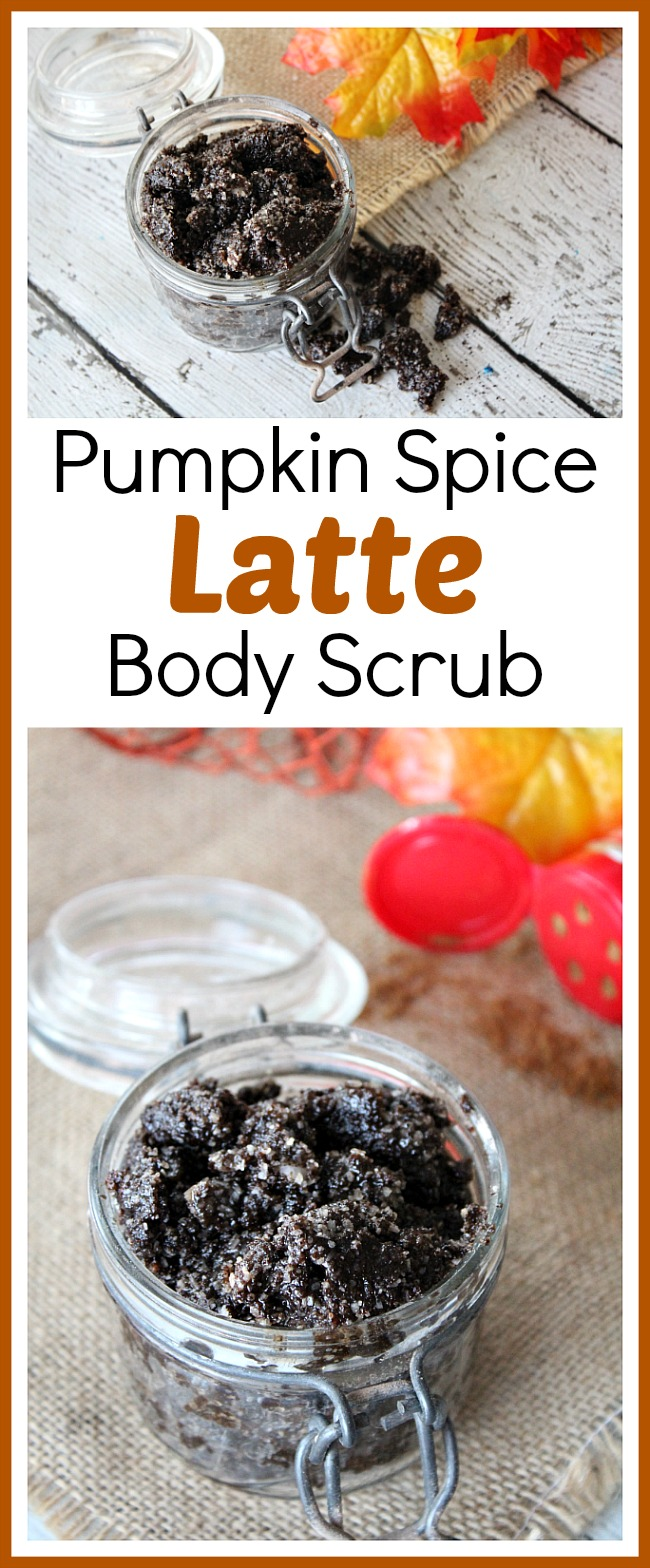 Pumpkin Spice Latte Body Scrub- If you love pumpkin spice flavored food, then can you imagine how much you'll love this DIY pumpkin spice latte body scrub? You have to give it a try!   sugar scrub, homemade beauty products, easy DIY gift ideas, coffee scrub