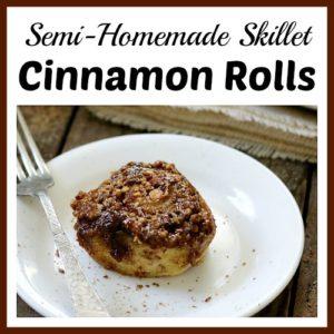 Semi-Homemade Skillet Cinnamon Rolls