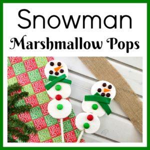 Snowman Marshmallow Pops