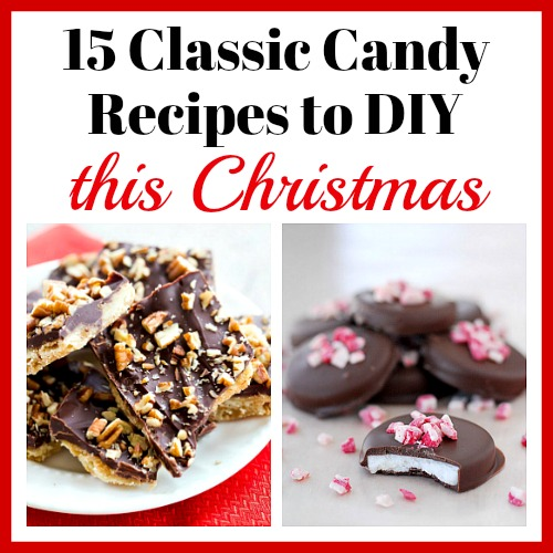 15 Classic Candy Recipes to DIY this Christmas- For a sweet treat this Christmas, make some of these 15 classic candy recipes! There are so many delicious candies to choose from! #recipe #Christmas #candy #dessert