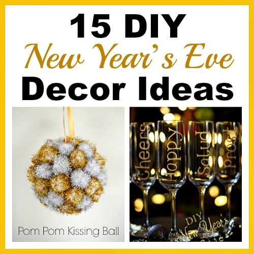 15 DIY New Year's Eve Décor Ideas- You can have a fun and glamorous New Year's Eve without spending a lot! Check out these 15 DIY New Year's Eve décor ideas for inspiration! #DIY #NewYearsEve #decor #craft #ACultivatedNest