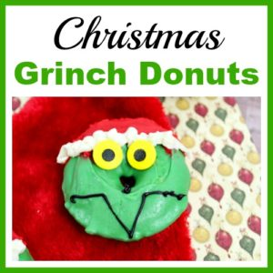 Christmas Grinch Donuts