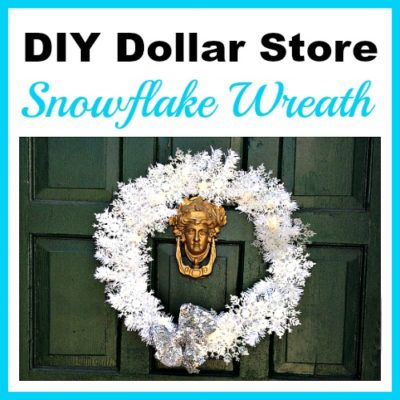 Dollar Store Sparkly Snowflake Wreath
