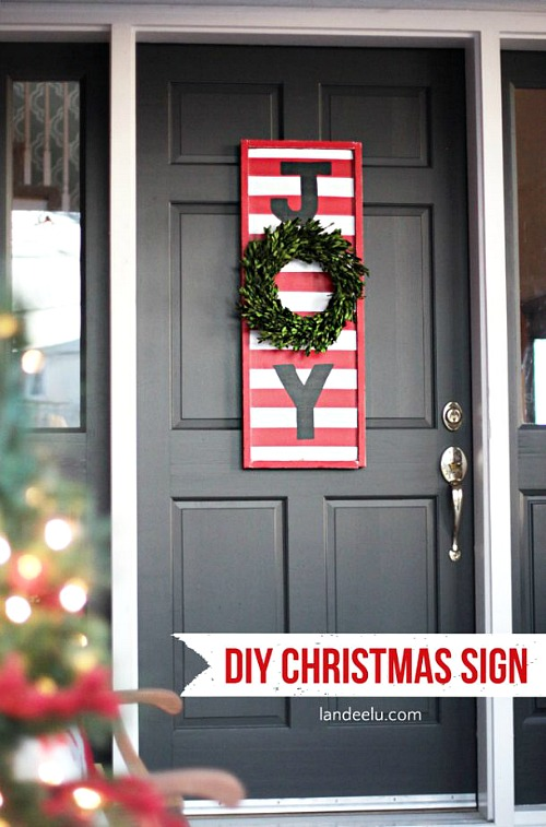 15 easy diy outdoor christmas decorating ideas this christmas stay on budget and make - Joy Outdoor Christmas Decoration
