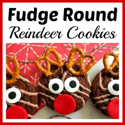Fudge Round Reindeer Cookies
