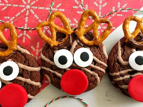 Fudge Round Reindeer Cookies A Cultivated Nest
