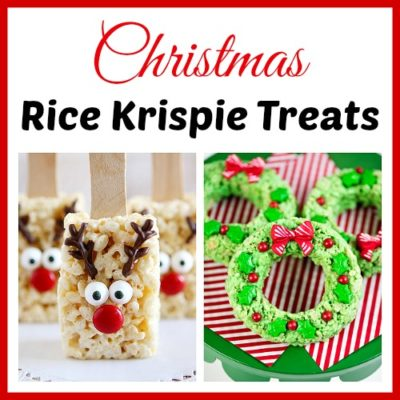 15 Homemade Christmas Rice Krispie Treats