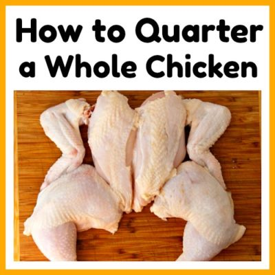 How to Quarter a Whole Chicken