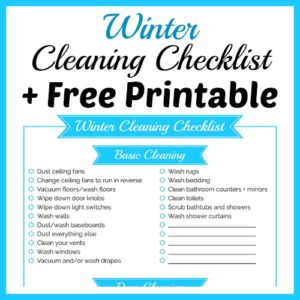 Winter Cleaning Checklist + Free Printable