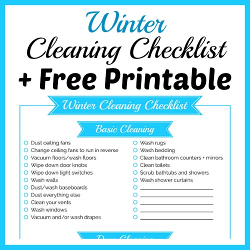 Winter Cleaning Checklist  Free Printable A Cultivated Nest