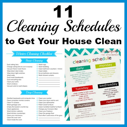 11 cleaning schedules to get your house clean everyone likes a clean home but