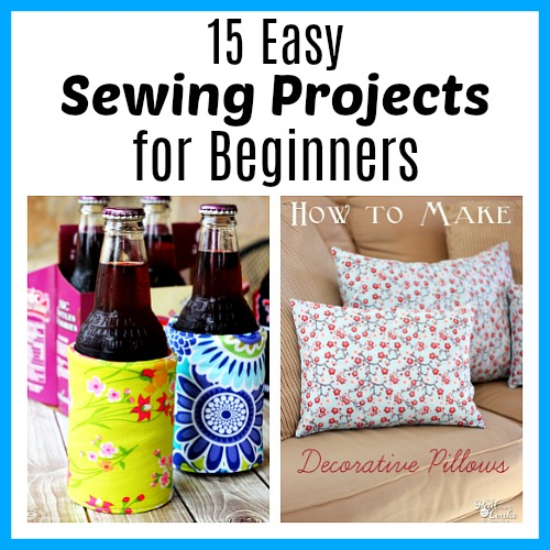 15 More Easy Sewing Projects for Beginners- Ever wanted to sew your own clothes, decor, or gifts but not known how to start? Sewing isn't so scary if you follow the right tutorials! Check out these 15 easy sewing projects for beginners for some great projects to start with! | how to sew, sewing projects, easy patterns, easy DIY sewing projects, how to sew pillows, how to sew clothes, gifts to sew, homemade gifts, #sewing, #diy #craft, #sewingPattern