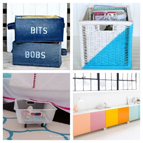 20 Clever IKEA DIY Storage Hacks- If you want to organize your home with IKEA products, but wish there were more styles and colors to choose from, then you need to check out these clever IKEA storage hacks! | diy IKEA organization, #organizingTips #homeOrganization #diyOrganization #organize #ACultivatedNest