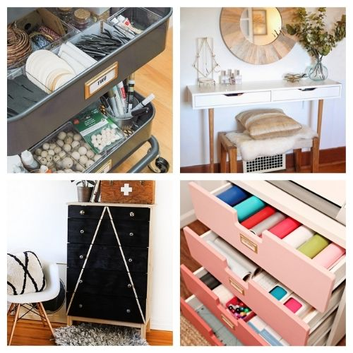 20 Clever DIY IKEA Organizers- If you want to organize your home with IKEA products, but wish there were more styles and colors to choose from, then you need to check out these clever IKEA storage hacks! | diy IKEA organization, #organizingTips #homeOrganization #diyOrganization #organize #ACultivatedNest