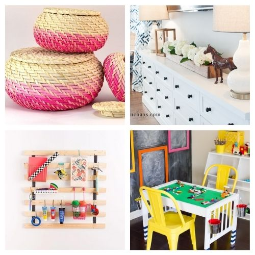 20 Clever DIY IKEA Organization Hacks- If you want to organize your home with IKEA products, but wish there were more styles and colors to choose from, then you need to check out these clever IKEA storage hacks! | DIY IKEA organization, #organizingTips #homeOrganization #diyOrganization #organize #ACultivatedNest