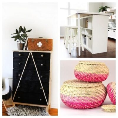 20 Clever IKEA Storage Hacks - Want to use IKEA products to organize your home? You don't have to use them as-is! Instead, check out these 20 clever IKEA storage hacks for inspiration! #ACultivatedNest