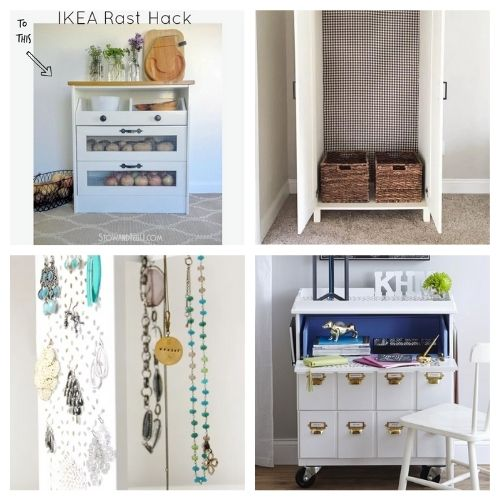 20 Clever DIY IKEA Hacks for Organizing- If you want to organize your home with IKEA products, but wish there were more styles and colors to choose from, then you need to check out these clever IKEA storage hacks! | diy IKEA organization, #organizingTips #homeOrganization #diyOrganization #organize #ACultivatedNest