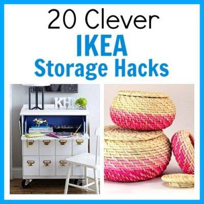 20 Clever IKEA Storage Hacks