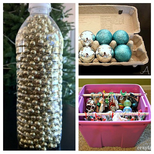 10 Christmas Decoration Organizing Hacks- Organizing your Christmas decorations doesn't have to be difficult, or expensive. This year, give these clever Christmas decoration storage hacks a try! | Christmas organization ideas, budget organizing ideas, upcycle, repurpose, Christmas storage containers, #Christmas #organizingTips #ACultivatedNest