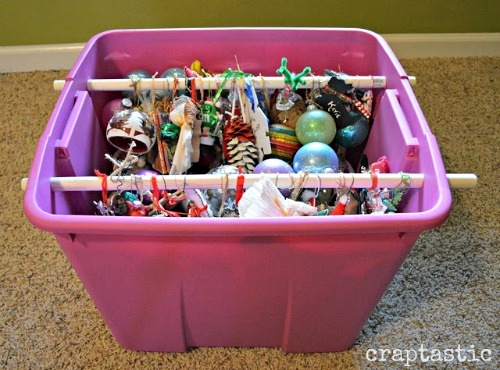 DIY Ornament Organizing Hacks- Organizing your Christmas decorations doesn't have to be difficult, or expensive. This year, give these clever Christmas decoration storage hacks a try! | Christmas organization ideas, budget organizing ideas, upcycle, repurpose, Christmas storage containers, #Christmas #organizingTips #ACultivatedNest