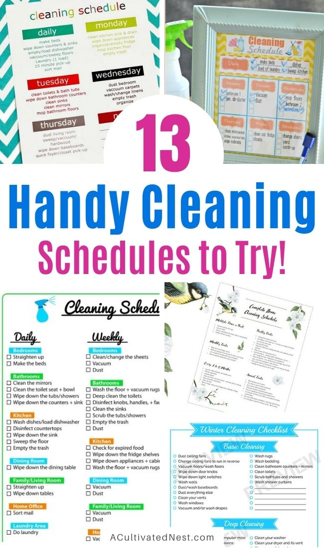 13 Cleaning Schedules to Get Your House Clean