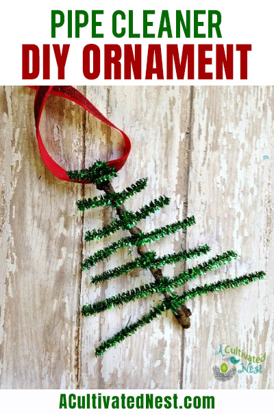 DIY Pipe Cleaner Christmas Ornament- For a fun and easy Christmas craft to do with the kids, you should make this pipe cleaner DIY Christmas ornament! | handmade Christmas ornaments, Christmas kids crafts, #Christmas #homemadeOrnaments #ChristmasCrafts #ChristmasDIY #ACultivatedNest