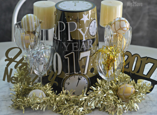 New Year's Eve Décor DIY Ideas- You can have a fun and glamorous New Year's Eve without spending a lot! Check out these 15 DIY New Year's Eve décor ideas for inspiration! #DIY #NewYearsEve #decor #craft #ACultivatedNest