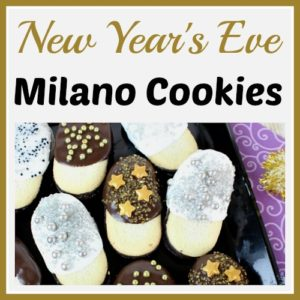 New Year's Eve Milano Cookies