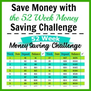 Save Money with the 52 Week Money Saving Challenge
